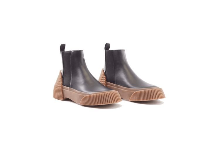 A pair of Lela Chelsea Boots has a waterproof corrugated vulcanized rubber outsole; \$550 from Phillip Lim.