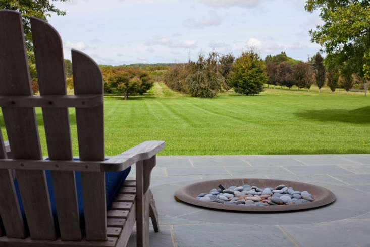 Lava rocks are a typical insert for fire bowls. Colombo also designs Branch Inserts.
