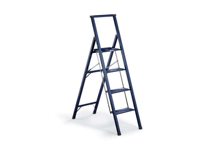 One of favorite mid-size ladders, the Frontgate Ultralight Slimline 4-Step Ladder that&#8\2\17;s a little over 5 feet tall and available in five colors (shown in Lagoon) for \$\149 each at Frontgate.