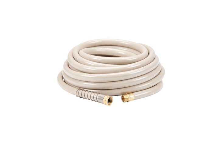 A 50-foot Commercial Duty Garden Hose is made of industrial-strength rubber and has solid brass fittings; &#8\2\20;designed for flexibility the internal cross-weave mesh bends without kinking,&#8\2\2\1; notes manufacturer Greenwood. It is \$\20.99 from Harbor Freight.