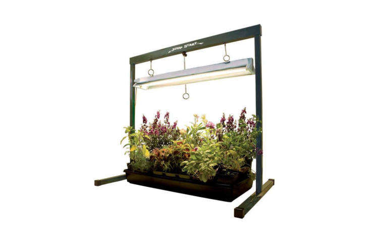 The Hydrofarm Hydroponic Grow Light is designed for germinating seeds and then, as plants grow, the upper bar and light extends to keep three to six inches away from the plant canopy. It&#8\2\17;s \$59.99 at Ace Hardware.
