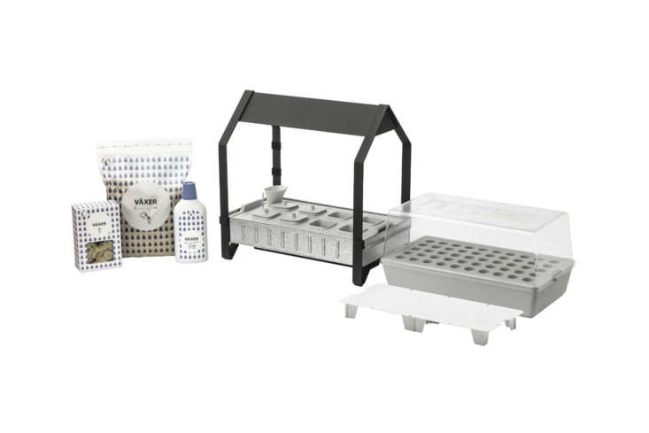 For UK readers, Ikea&#8\2\17;s Krydda/Växer Grow Kit is a hydroponic kit that comes with growing trays, shelves, and LED lights; £64.50 at Ikea UK. For more on the kit, see our postNew from Ikea: A Hydroponic Countertop Garden Kit.
