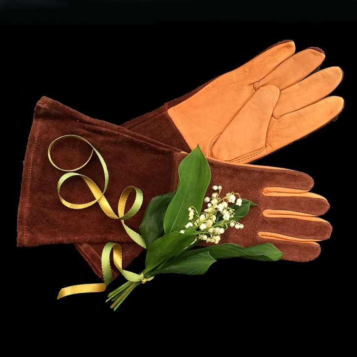 A pair of Leather Rose Gloves is available in two sizes (medium and large) and is \$44 from florist Emily Thompson.