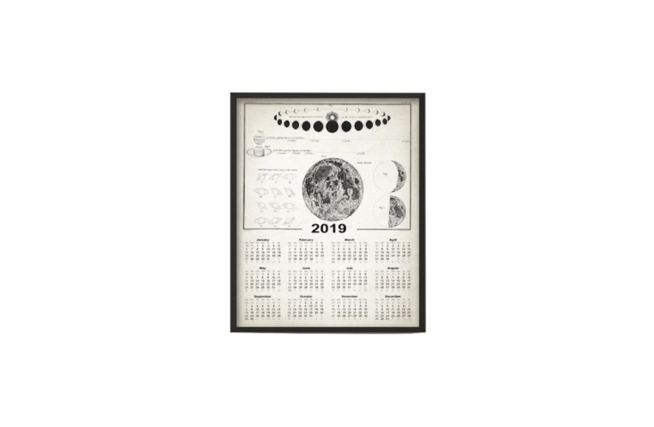 &#8\2\20;Printed using high quality archival inks on heavy-weight archival paper with a smooth matte finish,&#8\2\2\1; a Vintage Astronomy Calendar \20\19 is available in three sizes at prices starting at \$\10.57 from Quantum Prints via Etsy.