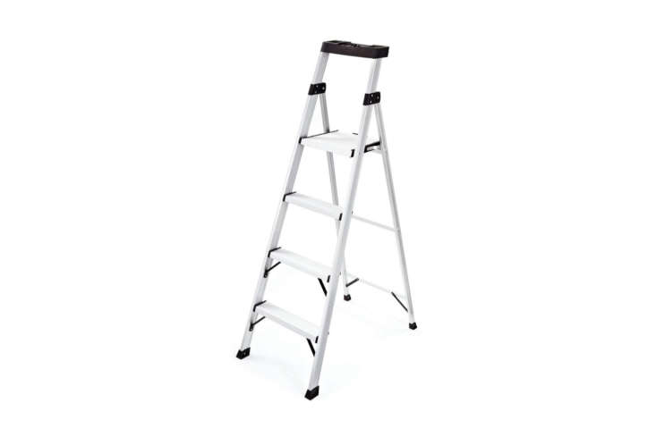 The Rubbermaid 4-Step Aluminum Step Stool is \$79.99 at The Home Depot.