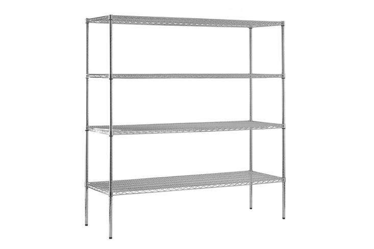 The Sandusky Commercial Shelving Unit in chrome wire measures 7