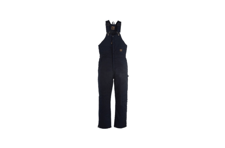 """From Berne, a pair of Deluxe Insulated Bib Overall-Zip To Kneecoveralls has an insulated """"High Back"""" design for added warmth; \$56.95 from All Seasons Uniform."""