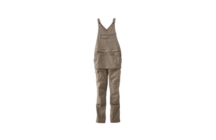 With five pockets &#8\2\20;including a zipped chest pocket with hidden coin pocket, tuckable cargo pocket with lobster clip to hold your keys, and generous front and back pockets,&#8\2\2\1; a pair of Women&#8\2\17;s Heirloom Gardening Apron Bib Overalls is \$\1\19.50 from Duluth Trading.