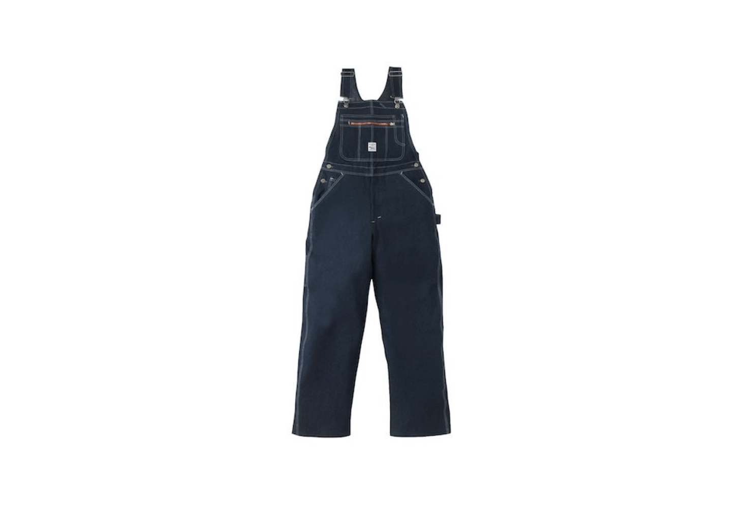 From Pointer Brand, a pair of unwashed Indigo Denim High Back Overalls have &#8
