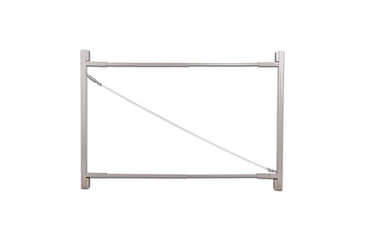 The Adjust-a-Gate Steel Frame Gate Building Kit is made with a truss cable system made for supporting wood, vinyl, and composite material; $44. at Amazon.