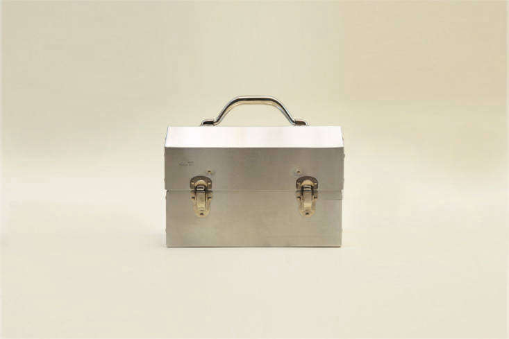 The Aluminum Lunch Box is, in fact, a lunch box, but can easily be used to store a select group of household tools; it&#8\2\17;s \$70 for the \10 inch size and \$75 for the \14 inch at The Good Liver in Los Angeles.