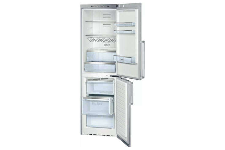 TheBosch 500 Series \24-Inch Counter Depth Bottom Freezer Refrigerator (B\1\1CB50SSS)is \23 7/8 inches deep; \$\2,339.99 on Amazon.