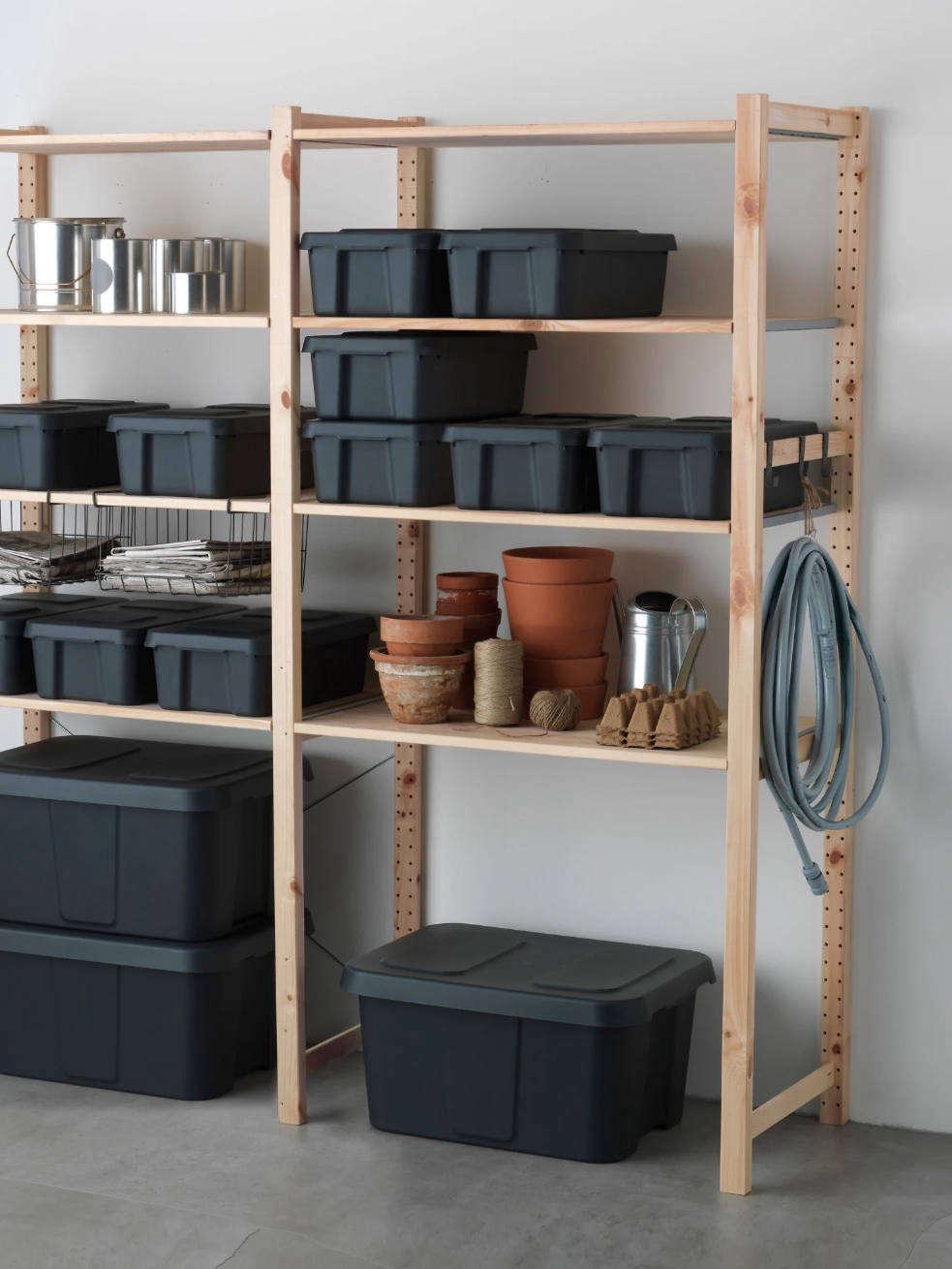 Ikea'sKlämtare Box with Lidin dark gray is $data-src=