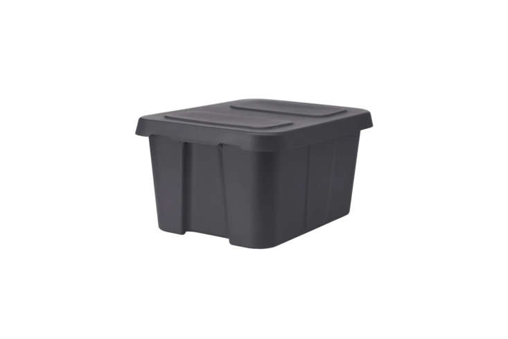 Ikea&#8\2\17;s Klämtare Box with Lid in dark gray is \$\1\2.99 for the large size (shown) and \$5.99 for the short and small box.