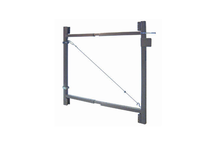 The Garden Gate Hardware Brace is made of a steel adjustable frame; $83.99 at Rona Home & Garden.