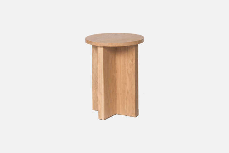 The luxe plant stand, a stool from Los Angeles designers Atelier de Troupe, the Chene Stool in ash or oak is $950.