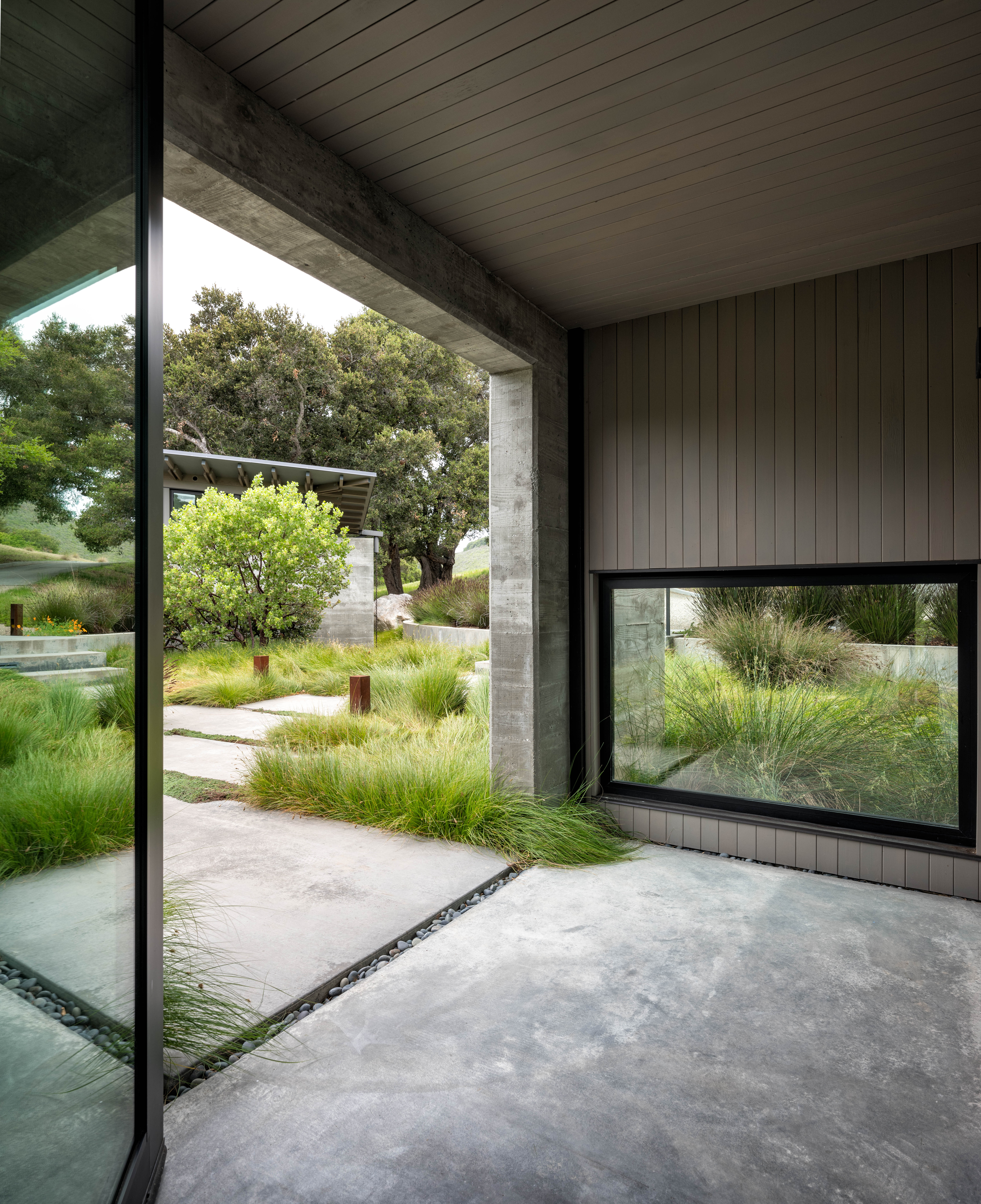 The clients wanted to connect indoor and outdoor spaces.