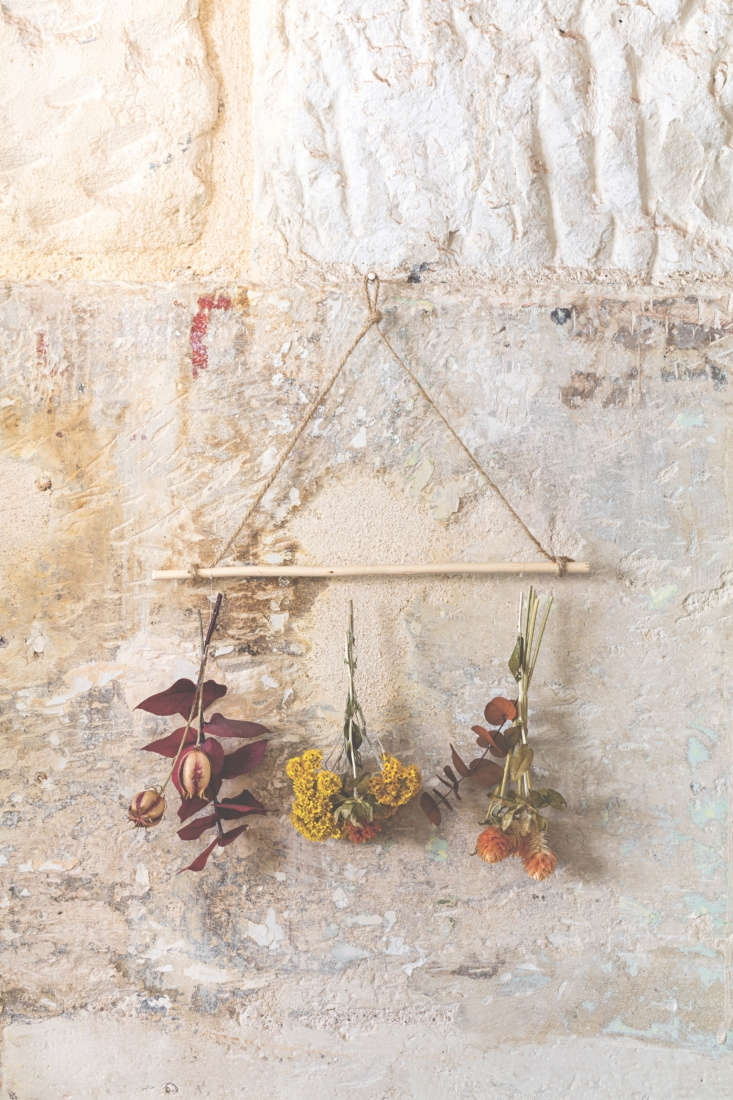 The DIY project the Gardenista editors are eager to try? A simple dried-flower wall hanging for all seasons, as seen in this week&#8\2\17;sRequired Reading: Plantopia by Camille Soulayrol.Photograph by Frédéric Baron-Morin from the new bookPlantopia(Flammarion, \20\19).