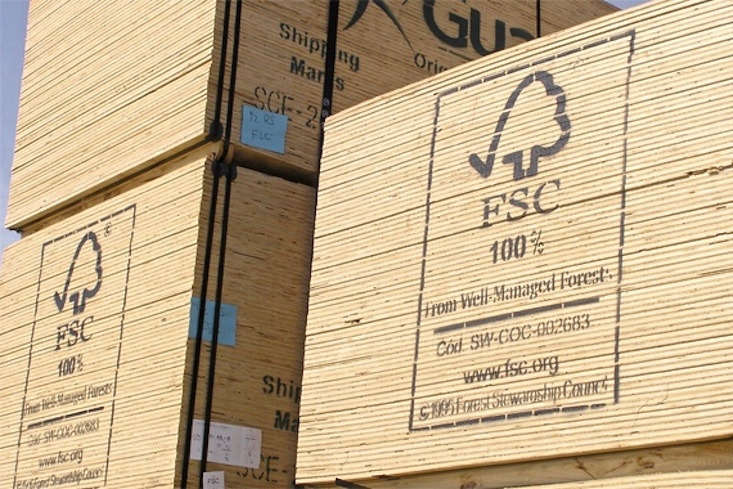 Stamped FSC-certified, responsibly harvested wood is for sale at Coastal Plywood.