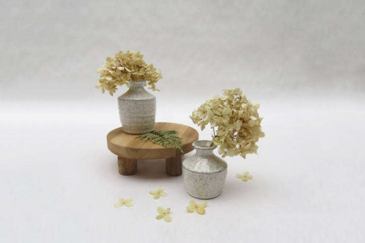 For a petite version, the Wooden Stand from Foraged Home is handmade in Indonesia in three sizes: small (
