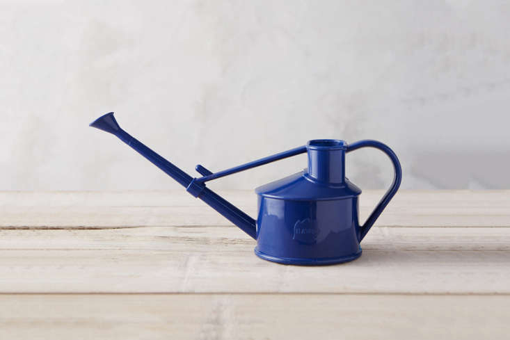 The Haws Mini Heirloom Watering Can comes in four shades; $ at Terrain.