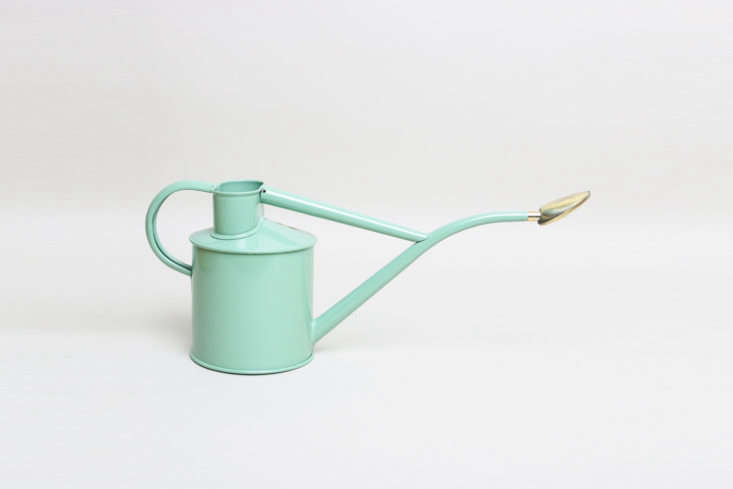 The large Haws Indoor Watering Can, shown in Sage Green, is $54.69 at Printer and Tailor in Hereford, England available through Trouva.
