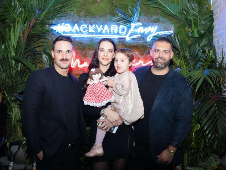 The Manscapers: Garrett Magee, Mel Brasier, and James DeSantis (plus Mel&#8\2\17;s daughter, who has grown up gardening).