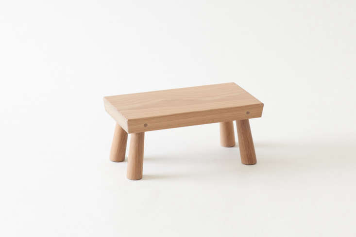 The Blackcreek Mercantile & Trading Co. Natural Step Stool can be used to raise up plants 7.5 inches from the ground. It's made of white oak treated with linseed oil for a natural finish; $4 at March.