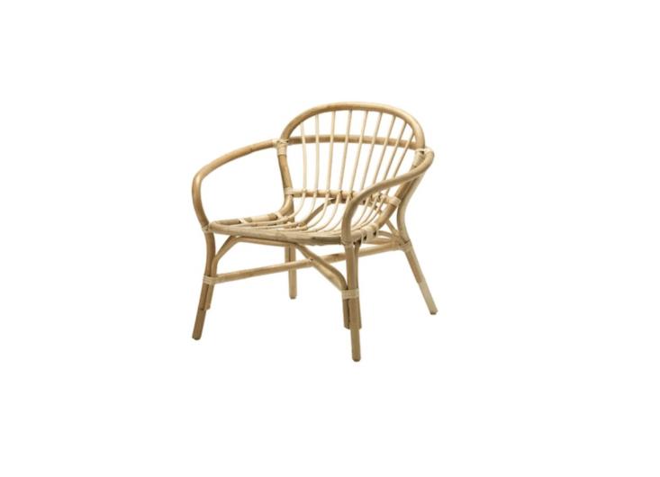 Handmade of natural fiber, a rattan Albacken Armchair is $79 from Ikea.