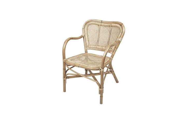 A Broste Copenhagen Ulla Armchair made of natural rattan is €3.95 from Living and Company.