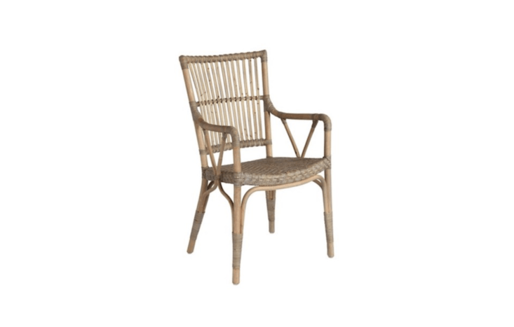 A taupe gray Piano Armchair is $4 from One Kings Lane.