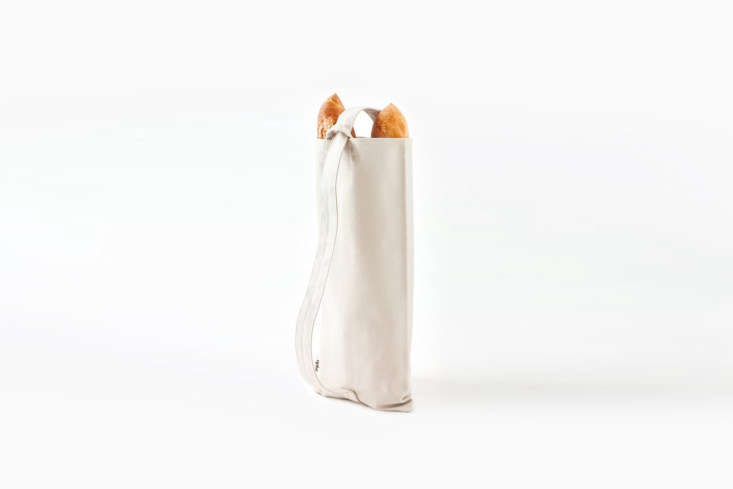 Every picnic needs a baguette, and while you could wrap yours in a cloth, the Aplat Baguette Tote is pretty appealing—and can carry up to three baguettes; \$50 at Aplat. Another option for a bread bag are those made by Dans Le Sac.