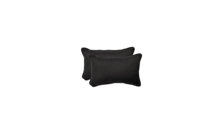 Long and low, lumbar pillows support your back in a lounge chair. With two black pillows, aPillow Perfect Tweed Outdoor Throw Pillow Set is \$39.99 from Target.