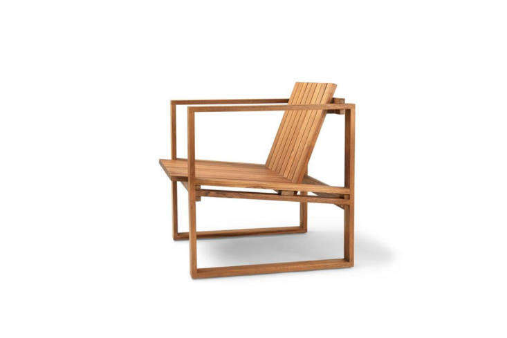 The BK\1\1 Lounge Chair by Bodil Kjær for Carl Hansen & Son is intended for outdoor use as part of a \1959 collection of outdoor furniture by Kjær. It's made of oiled teak for \$\1,\160 at Danish Design Store.