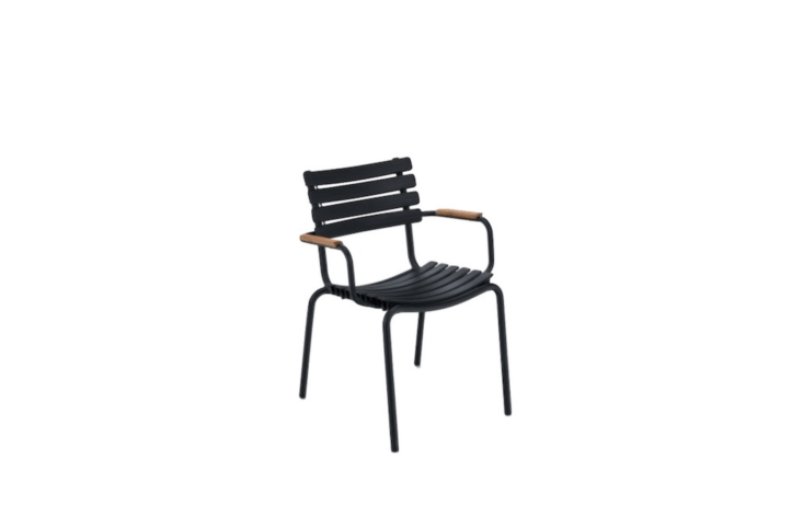 A Clips armchair also is available with bamboo armrests; $380.