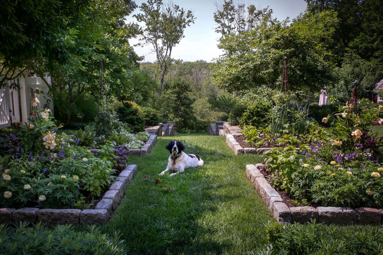 Photograph by Justine Hand for Gardenista, from Landscape Designer Visit: A Charming Cottage Garden Outside of Boston.