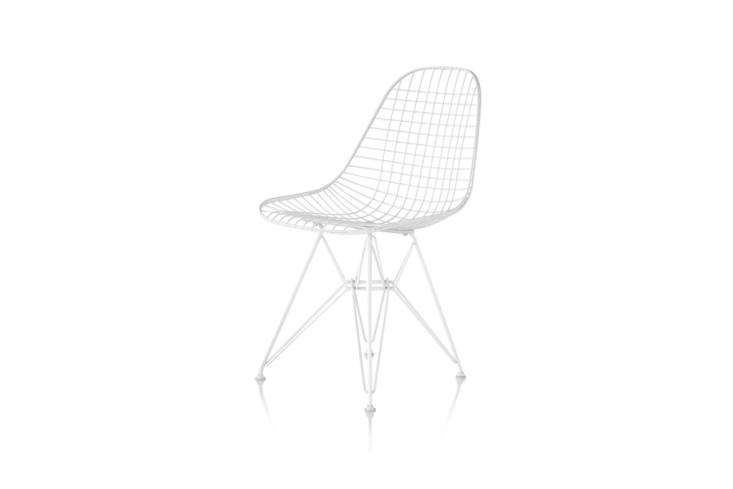 In the 50s Charles and Ray Eames experimented with bent and welded wire to recreate their iconic shell chair. The experiments resulted in the Eames Wire Outdoor Chair produced today through Herman Miller in black or white powder-coating; $860 at Smart Furniture.