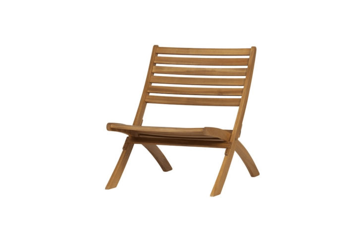 A Lois Wooden Lounge Chair made of eucalyptus measures nearly \2\2 inches wide and is €\139 from WOO Design.