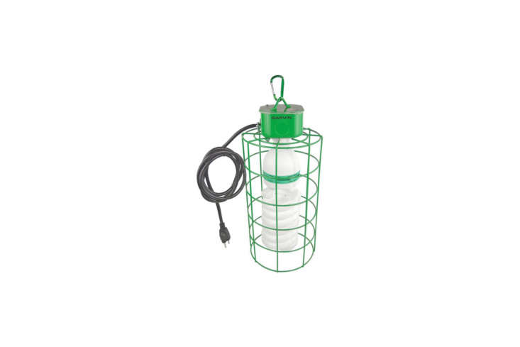 The Garvin 5-Watt Temporary Work-Light has a super bright compact fluorescent bulb, a bright green housing, and comes with 6 feet of cord; $loading=