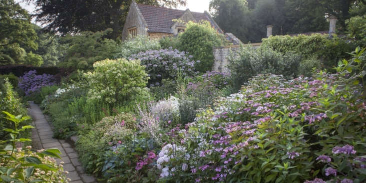 Over time the planting has evolved to include soft pinks and lilacs too.