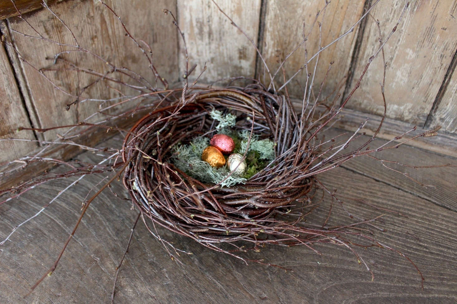 Just in time for Easter, this DIY decorative nest made from foraged branches is a great project for a middle- or high-schooler. Photograph by Kendra Wilson for Gardenista, from DIY Bird Nests: Twig Tabletop Arrangements for Easter.
