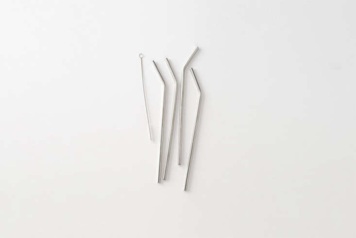 For sipping cool drinks in the sun, Stainless Steel Straws to the rescue. This set from Schoolhouse comes with a bristle brush for easy cleaning; \$\14 for four at Schoolhouse.