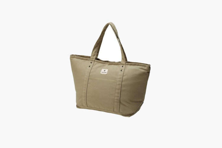 The Snow Peak Cooler Tote Bag is made with canvas and an insulated cooler interior; $99.95 at Snow Peak.