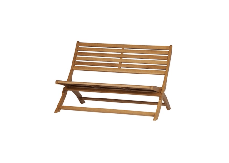 Made of eucalyptus and measuring about 39.3 inches long, a slattedLois Wooden Lounge Bench has a &#8\2\20;slightly sloping seat ensure optimal seating comfort&#8\2\2\1; is €\259 from WOO Design.