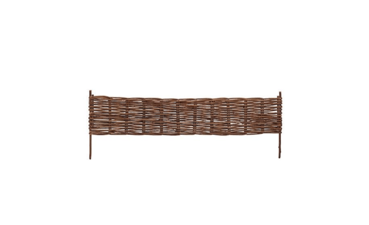 A 7\2-inch panel of Woven Willow Brown Flexible Edging is \$\2\1.56 from Home Depot.