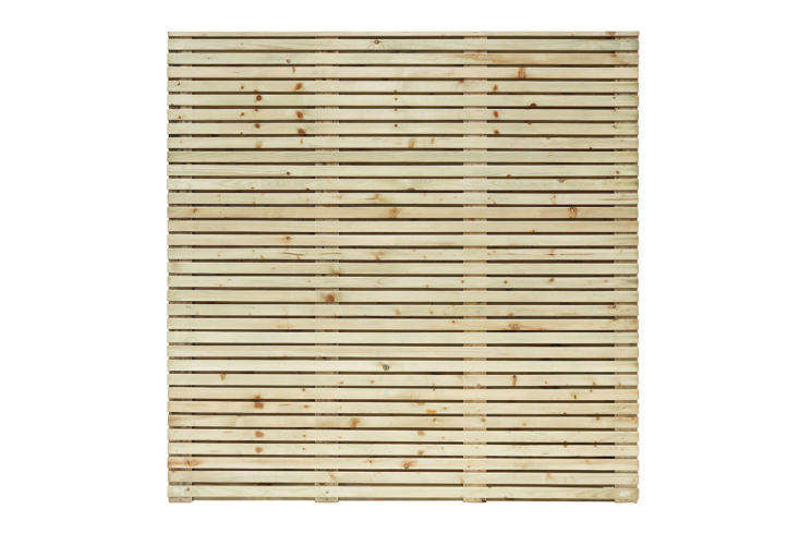 A Pack of 5 Grange Horizontal Slat Contemporary Fence Panels is £470 at DIY.