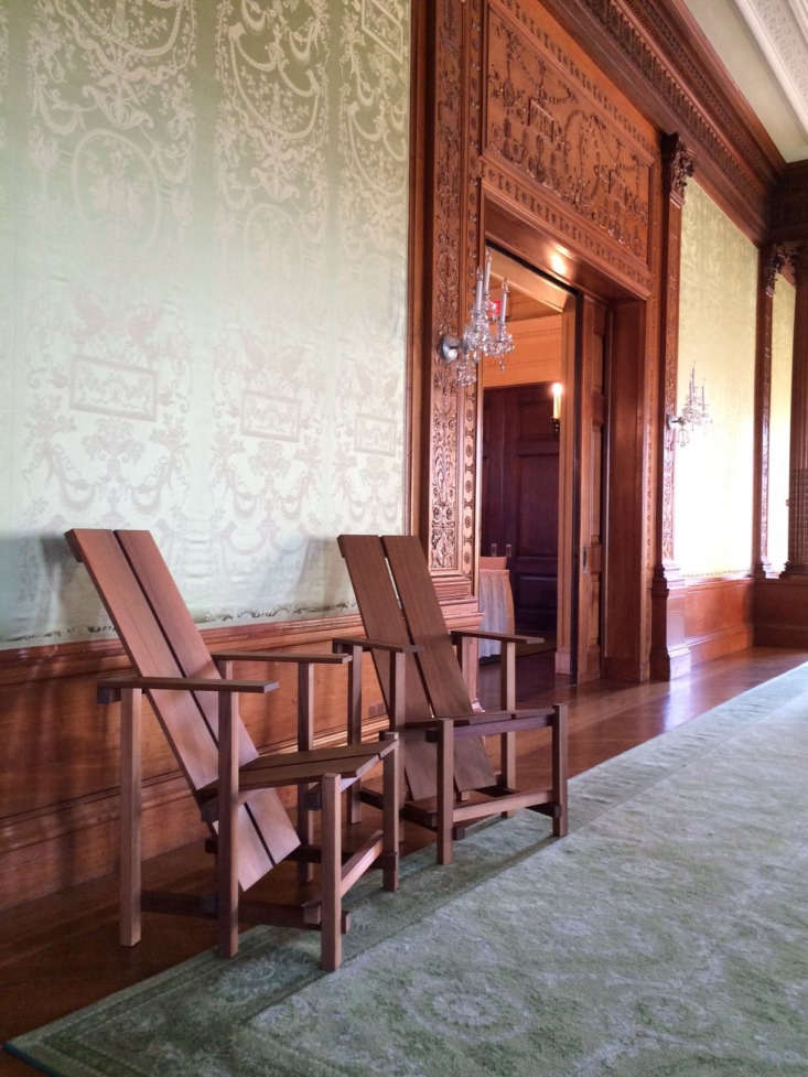 Chairs constructed by Matthew Hughes from Wave Hill&#8