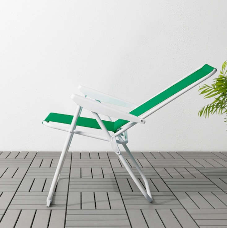 The HÅMÖ lawn chair reclines to be adjusted to five different positions; \$\24.99.