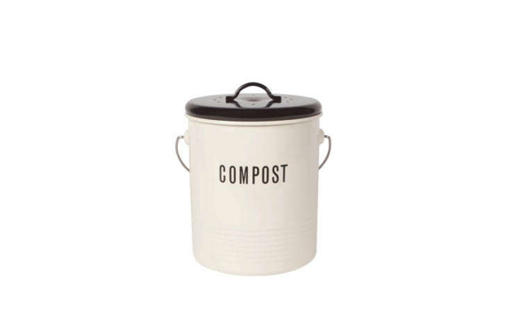 We like the two-toned look of this Vintage Style Compost Bin from Lehman&#8\2\17;s; \$\26.99.