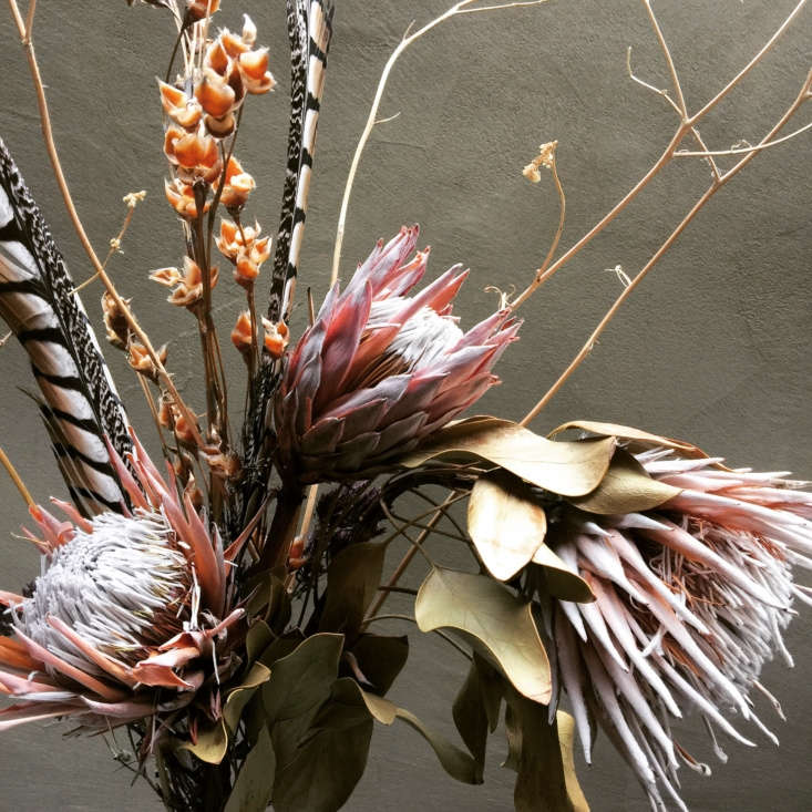 A gorgeous dried floral bouquet by my friend Gayle Nicoletti.